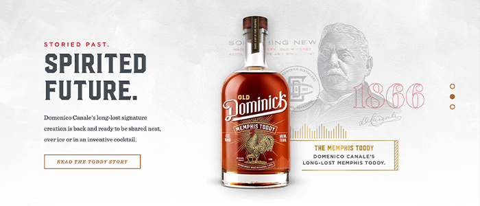 Old Dominick Distillery Website Development