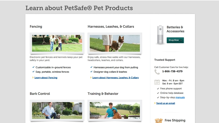 PetSafe.net Website