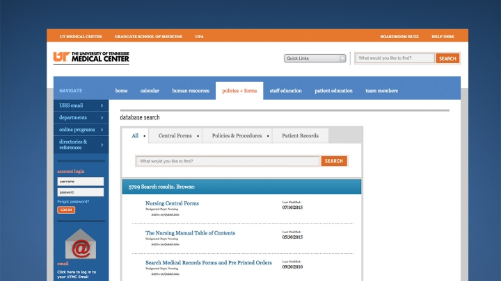 University of Tennessee Medical Center Intranet