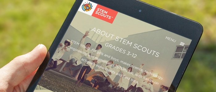STEM Scouts Pilot Program Website