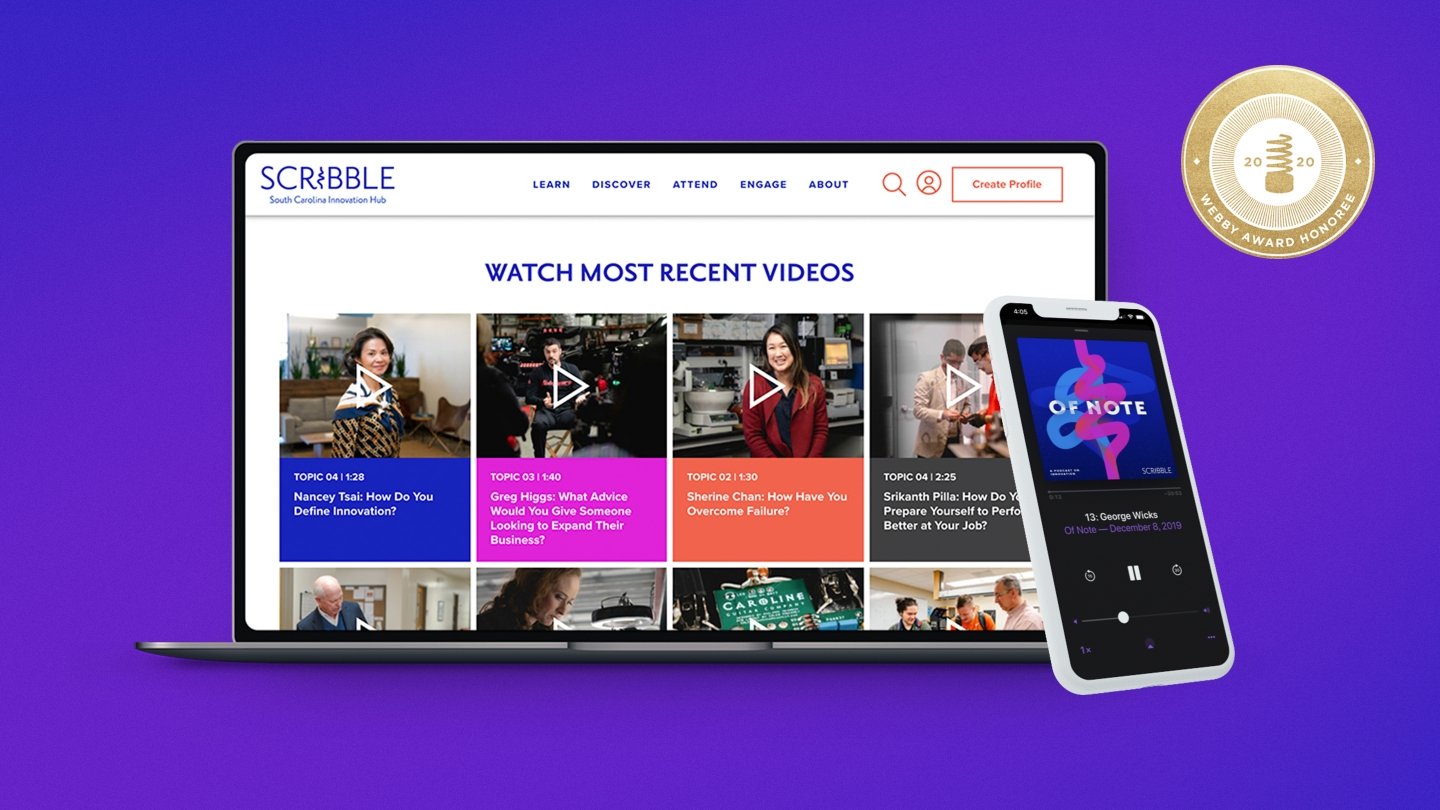 Scribble Video & Podcast Hero 1