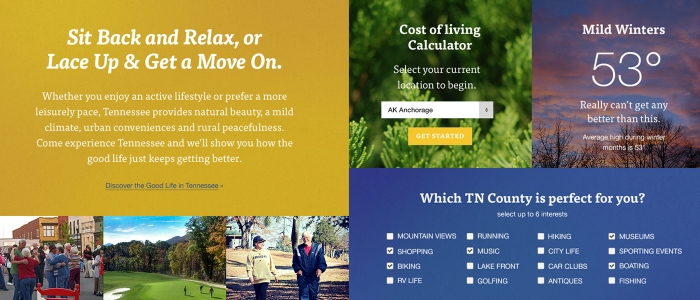 Retire Tennessee Website